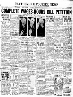 The Courier News from Blytheville, Arkansas on December 2, 1937 · Page 1