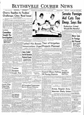 The Courier News from Blytheville, Arkansas on August 4, 1954 · Page 1