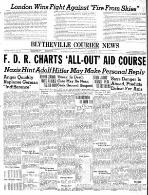 The Courier News from Blytheville, Arkansas on December 30, 1940 · Page 1