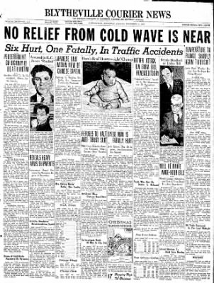 The Courier News from Blytheville, Arkansas on December 6, 1937 · Page 1