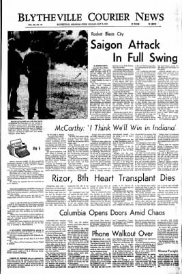 The Courier News from Blytheville, Arkansas on May 6, 1968 · Page 1