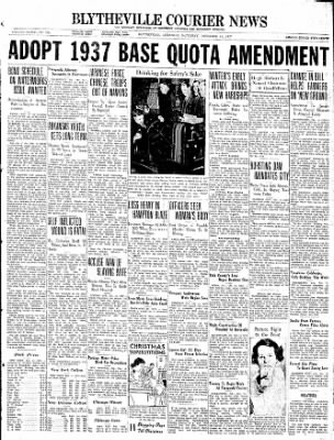 The Courier News from Blytheville, Arkansas on December 11, 1937 · Page 1