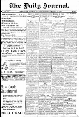 Logansport Pharos-Tribune from Logansport, Indiana on January 26, 1895 · Page 1