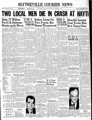 The Courier News from Blytheville, Arkansas on January 8, 1941 · Page 1