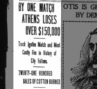 Clip of the Day: Most Costly Fire in History of Athens, Georgia