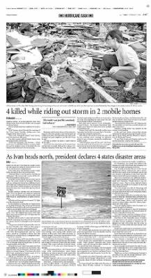 The Orlando Sentinel from Orlando, Florida on September 17, 2004 · A19