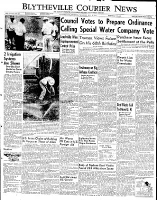 The Courier News from Blytheville, Arkansas on May 8, 1952 · Page 1