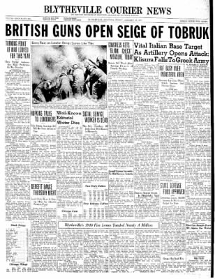 The Courier News from Blytheville, Arkansas on January 10, 1941 · Page 1