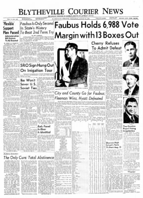 The Courier News from Blytheville, Arkansas on August 11, 1954 · Page 1