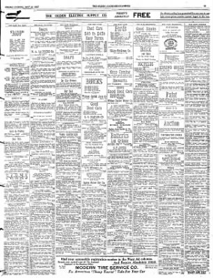 the ogden standard examiner from ogden utah on may 25 1923 page 15 Car Salesman From 1920s