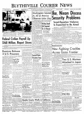 The Courier News from Blytheville, Arkansas on September 5, 1955 · Page 1