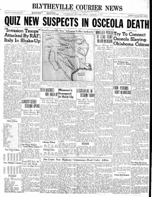 The Courier News from Blytheville, Arkansas on January 13, 1941 · Page 1