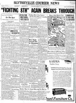 The Courier News from Blytheville, Arkansas on April 7, 1943 · Page 1