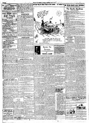 The Oil City Derrick from Oil City, Pennsylvania on May 8, 1924 · Page 6