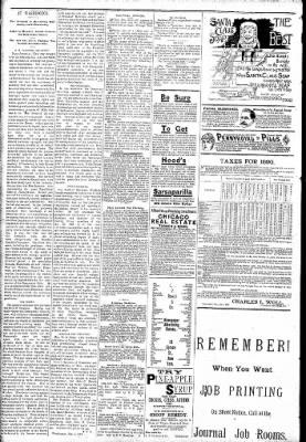 Logansport Pharos-Tribune from Logansport, Indiana on February 8, 1891 · Page 2