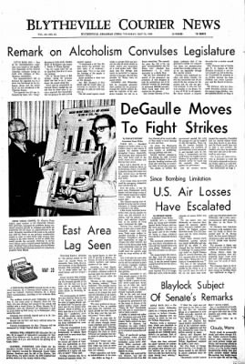 The Courier News from Blytheville, Arkansas on May 23, 1968 · Page 1