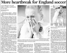Heartbreak for England during World Cup