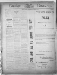 Sample Ensign Razzoop front page