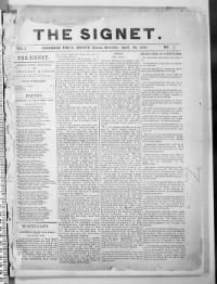 Sample The Signet front page