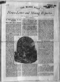 Sample The Black Hills News-Letter and Mining Reporter front page