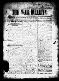 Sample The War Bulletin front page