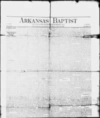 Sample Arkansas Baptist front page