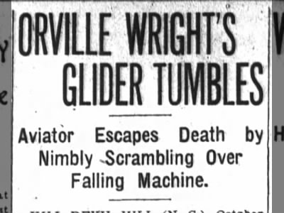 Clip of the Day: Orville Wright Escapes Death in Glider Crash
