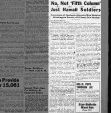 An experience of American soldiers of Japanese descent after Pearl Harbor
