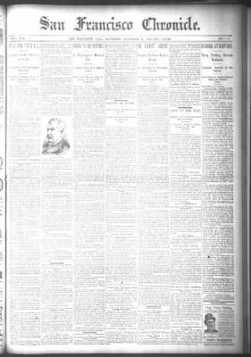 San Francisco Chronicle from San Francisco, California on December 17, 1892 · Page 1