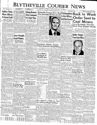The Courier News from Blytheville, Arkansas on December 1, 1949 · Page 1