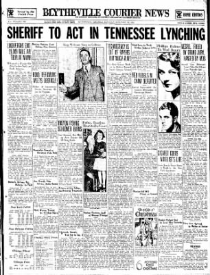 The Courier News from Blytheville, Arkansas on December 16, 1933 · Page 1