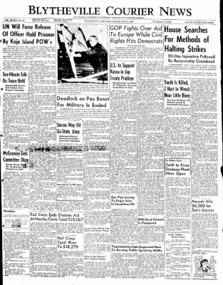 The Courier News from Blytheville, Arkansas on May 9, 1952 · Page 1