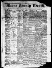Sample Boone County Record front page