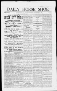 Sample Daily Horse Shoe front page