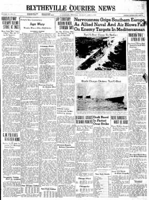 The Courier News from Blytheville, Arkansas on June 3, 1943 · Page 1