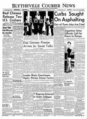 The Courier News from Blytheville, Arkansas on September 16, 1955 · Page 1