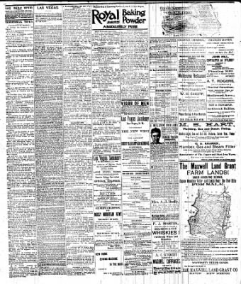 83f6aa3c940a Las Vegas Daily Optic from East Las Vegas, New Mexico on June 28, 1892 ·  Page 7
