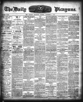 The Times-Picayune from New Orleans, Louisiana on September 5, 1883 · Page 1