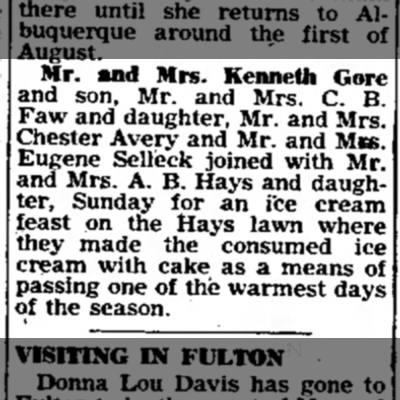 Mr & Mrs Chester Avery eat ice cream -