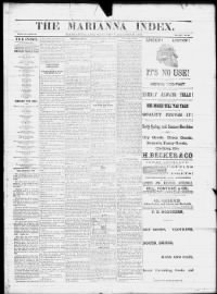 Sample Marianna Index front page