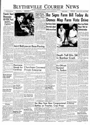 The Courier News from Blytheville, Arkansas on August 27, 1954 · Page 1
