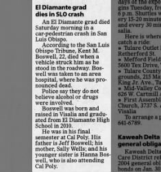 Kent M Boswell obituary