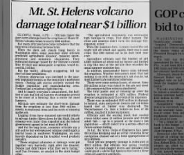 Mount St. Helens 1980 Eruption - Topics on Newspapers.com