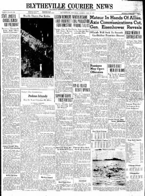 The Courier News from Blytheville, Arkansas on May 3, 1943 · Page 1