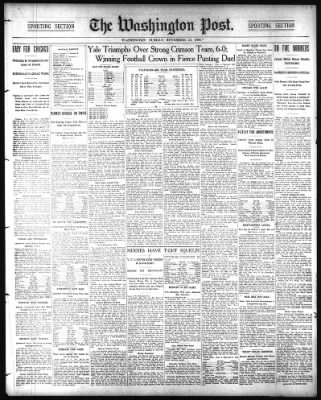The Washington Post from Washington, District of Columbia on November 25, 1906 · Page 1