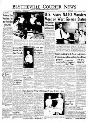 The Courier News from Blytheville, Arkansas on September 2, 1954 · Page 1
