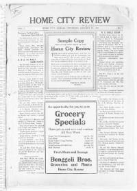 Sample Home City Review front page
