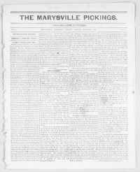 Sample Marysville Pickings front page