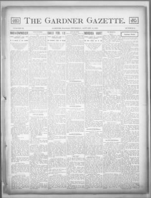 The Gardner Gazette from Gardner, Kansas on January 16, 1902 · 1