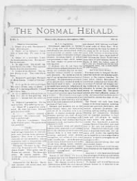 Sample Normal Herald front page